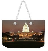 Early Washington Mornings - Us Capitol In The Spotlight Weekender Tote Bag