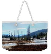 Early Winter On The Yellowstone Weekender Tote Bag