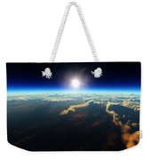 Earth Sunrise From Outer Space Weekender Tote Bag