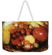 Earthtone Fruit Fresco Weekender Tote Bag