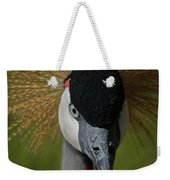 East African Crowned Crane Upclose Weekender Tote Bag