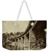 East Falls Rail Road Bridge Weekender Tote Bag