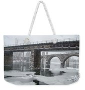 East Falls - The Frozen Schuylkill River Weekender Tote Bag