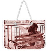 East River Lovers Weekender Tote Bag