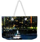East River Traffic 2 New York Weekender Tote Bag