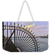 East River View Through The Spokes Weekender Tote Bag