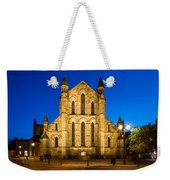 East Side Of Hexham Abbey At Night Weekender Tote Bag
