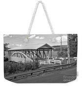 East St. Claire Covered Bridge Black And White Weekender Tote Bag