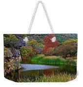East Trail Pond At Lost Maples Weekender Tote Bag