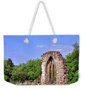 East Window Remains Of Old Church At Ticknall Weekender Tote Bag