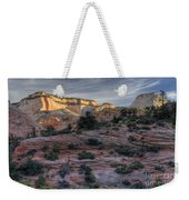 East Zion Canyon Sunrise Weekender Tote Bag