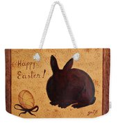 Easter Golden Egg And Chocolate Bunny Weekender Tote Bag