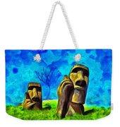 Easter Island - Van Gogh Style - Pa Weekender Tote Bag