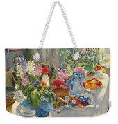 Easter Table Weekender Tote Bag