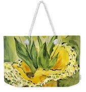 Easter Tulips Weekender Tote Bag by Maria Langgle