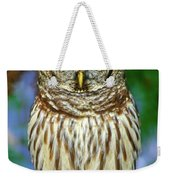 Eastern Barred Owl Weekender Tote Bag