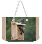 Western Blue Bird Weekender Tote Bag