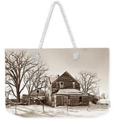 Eastern Montana Farmhouse Sepia Weekender Tote Bag