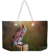 Eastern Screech Owl Red Morph Profile Weekender Tote Bag
