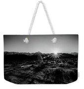 Eastern Sierra Sunset In Monochrome Weekender Tote Bag