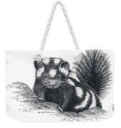 Eastern Spotted Skunk Weekender Tote Bag