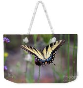 Eastern Tiger Swallowtail Butterfly In Garden 2016 Weekender Tote Bag