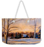 Eastern Townships In Winter Weekender Tote Bag