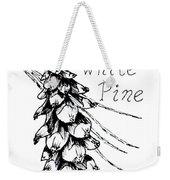 Eastern White Pine Cone On A Branch Weekender Tote Bag