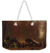 Eastman Johnson - A Different Sugaring Off - Circa 1865 Weekender Tote Bag