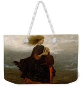 Eastman Johnson - The Girl I Left Behind Me Weekender Tote Bag