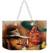 Eastwood And Wayne Weekender Tote Bag