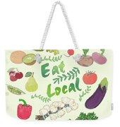Eat Local  Weekender Tote Bag