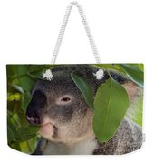 Eat Your Greens Weekender Tote Bag by Mike  Dawson