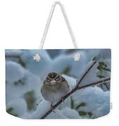 Eating Snow Weekender Tote Bag