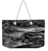 Eau Claire Dells Black And White Flow Weekender Tote Bag