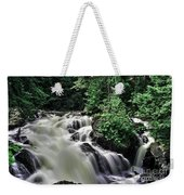 Eau Claire Gorge Water Fall Weekender Tote Bag