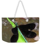 Ebony Jewel Damselfly Weekender Tote Bag