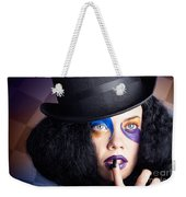 Eccentric Mad Fashion Hatter In Colourful Makeup Weekender Tote Bag