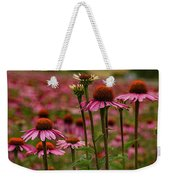 Echinacea Front And Center Weekender Tote Bag