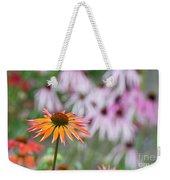 Echinacea Purpurea Orange Passion Flower Weekender Tote Bag