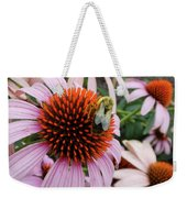 Echinacea Tea Time For Bee Weekender Tote Bag by Kristin Aquariann
