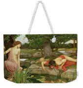 Echo And Narcissus Weekender Tote Bag by John William Waterhouse