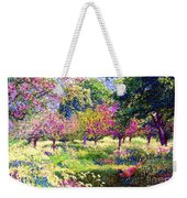 Echoes From Heaven, Spring Orchard Blossom And Pheasant Weekender Tote Bag