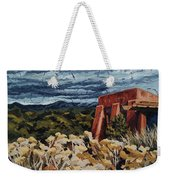 Echoes Of Tularosa, Museum Hill, Santa Fe, Nm Weekender Tote Bag by Erin Fickert-Rowland
