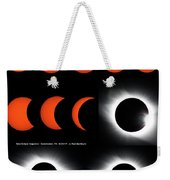 Eclipse Sequence Weekender Tote Bag