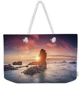 Ecola State Park Beach Sunset Pano Weekender Tote Bag