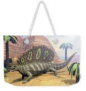 Edaphosaurus Dinosaur - 3d Render Weekender Tote Bag