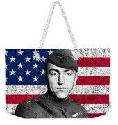 Eddie Rickenbacker And The American Flag Weekender Tote Bag
