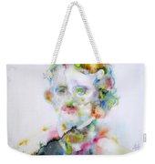 Edgar Allan Poe - Watercolor Portrait.4 Weekender Tote Bag