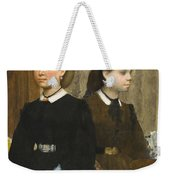 Edgar Degas - The Bellelli Sisters Giovanna And Giuliana Bellelli Weekender Tote Bag